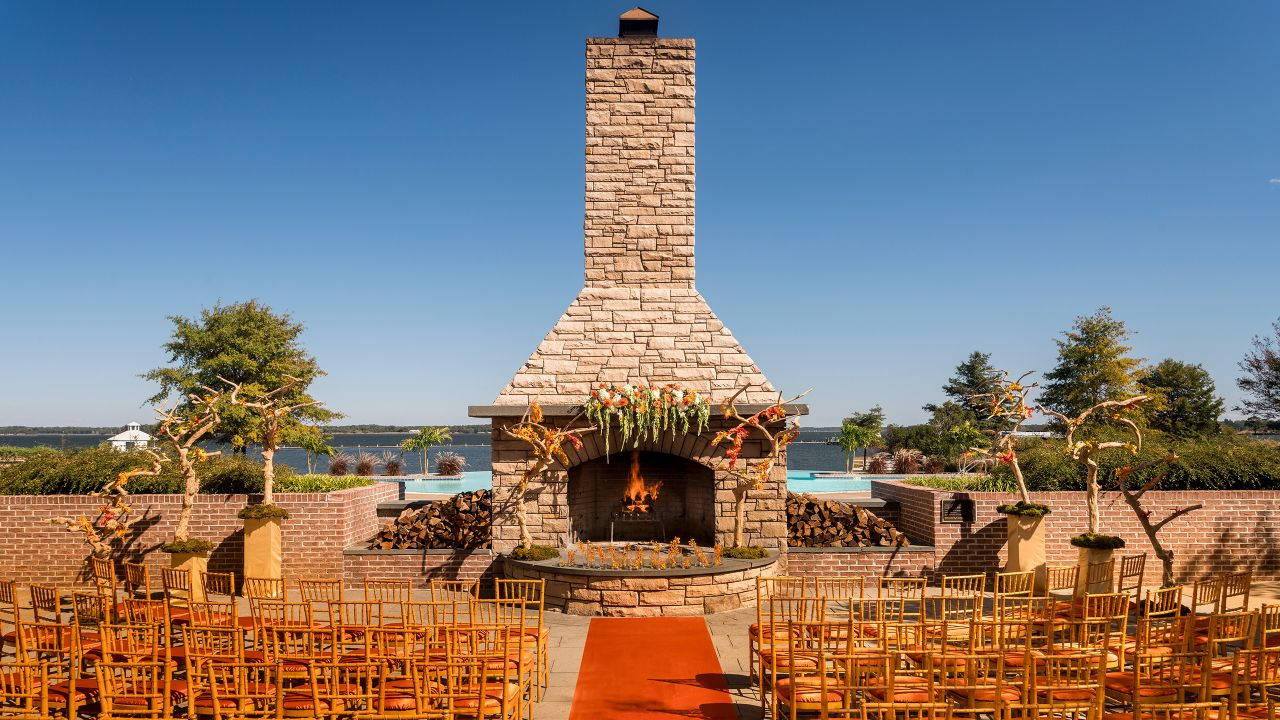 Grand Fireplace Wedding