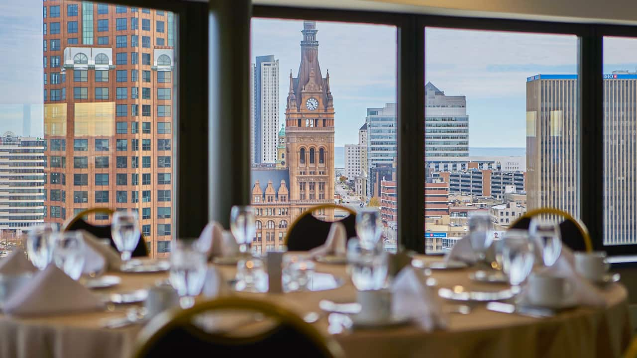rooftop ballroom at hyatt regency milwaukee