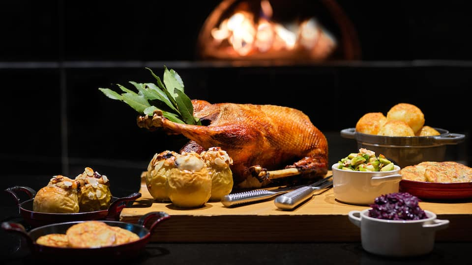 Roasting Goose at Apples Restaurants