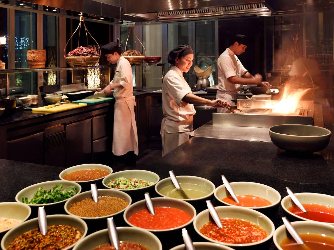 Thai Kitchen Chef in Action