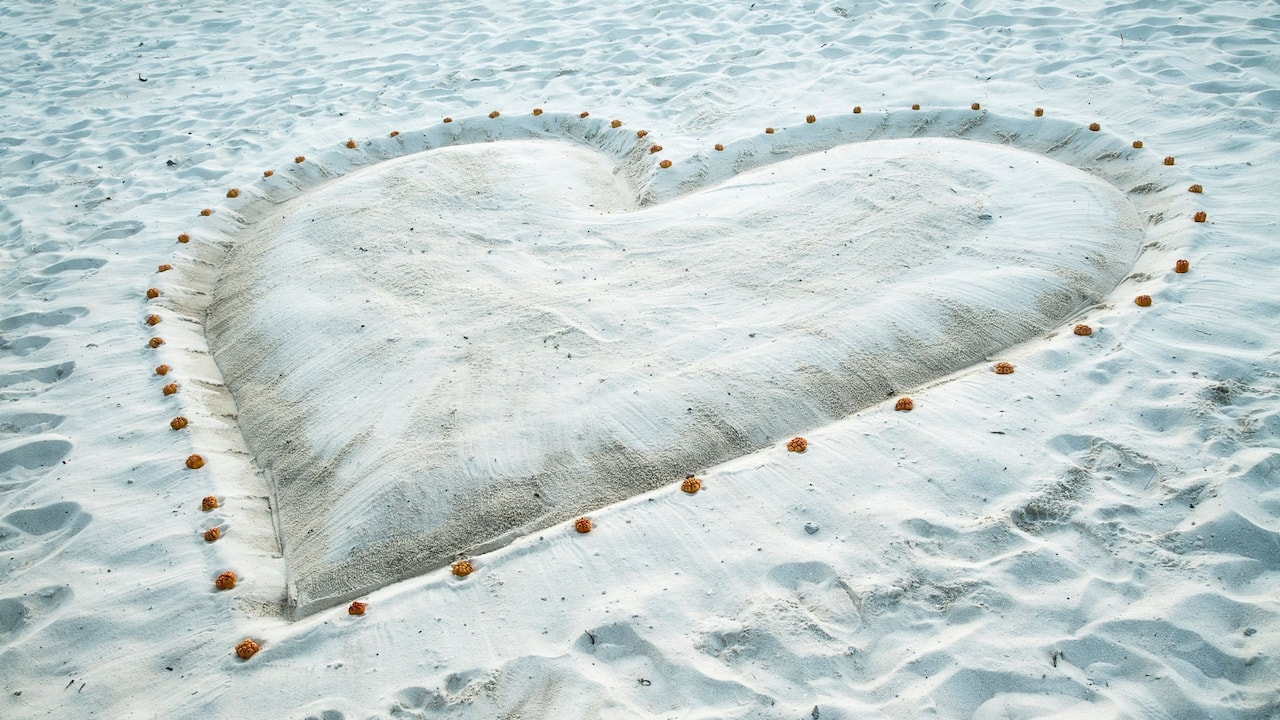 Wedding Heart on Beach