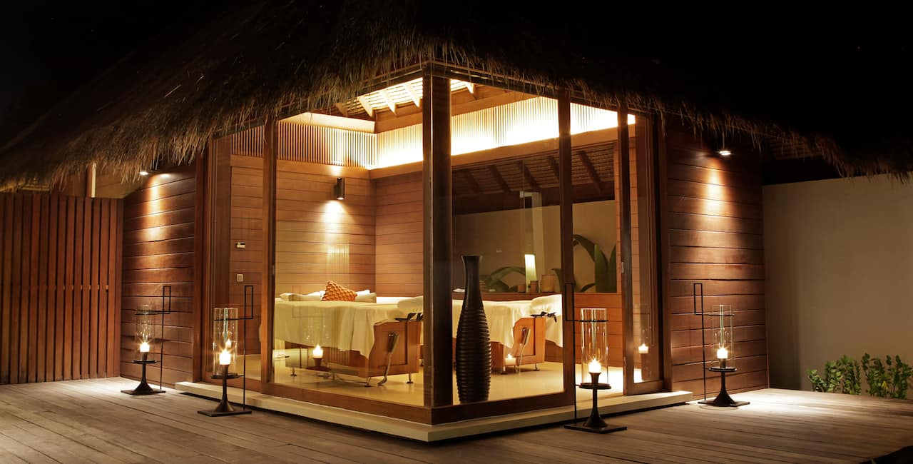 Spa couples' treatment villa