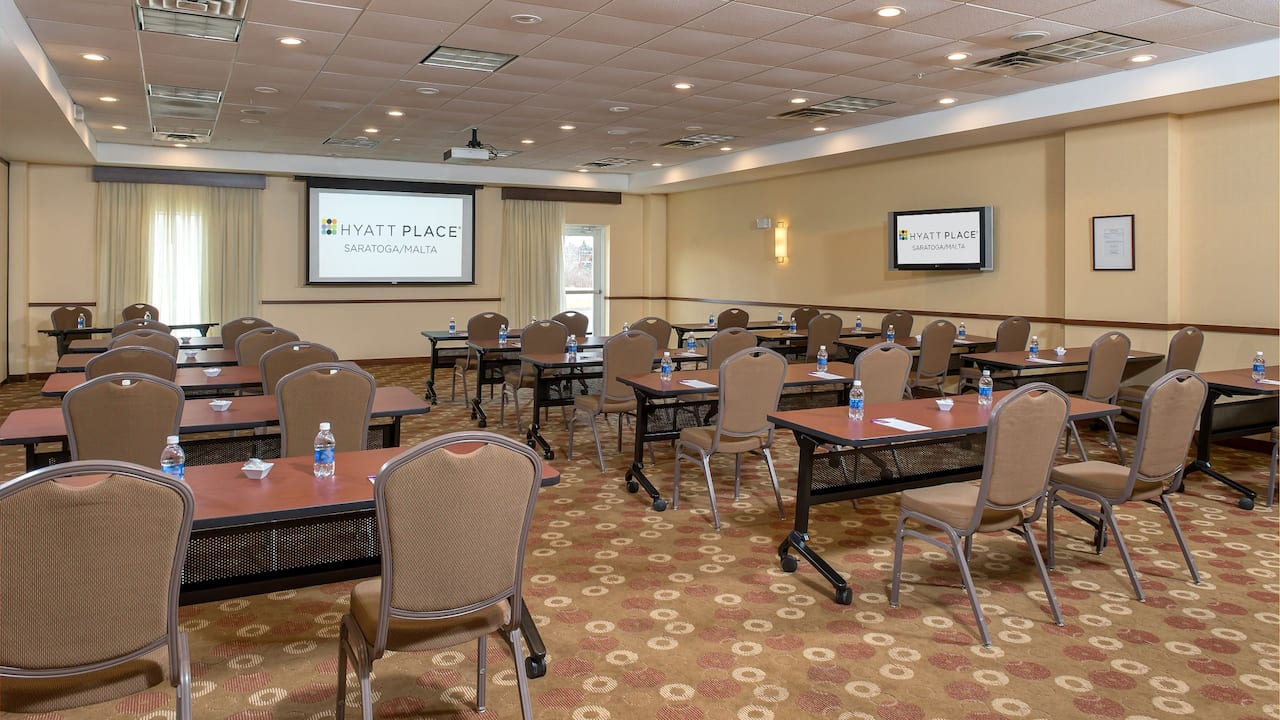 Classroom style meeting room at Hyatt Place Saratoga / Malta