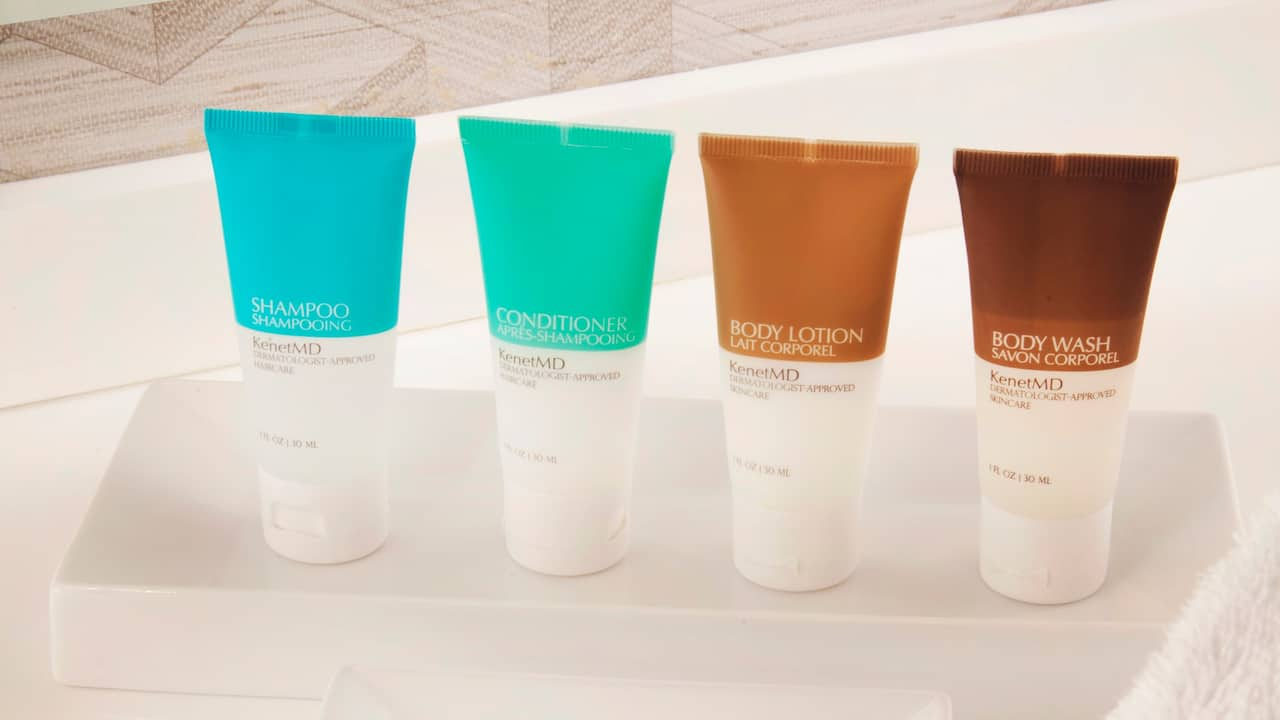 Assortment of complimentary toiletries