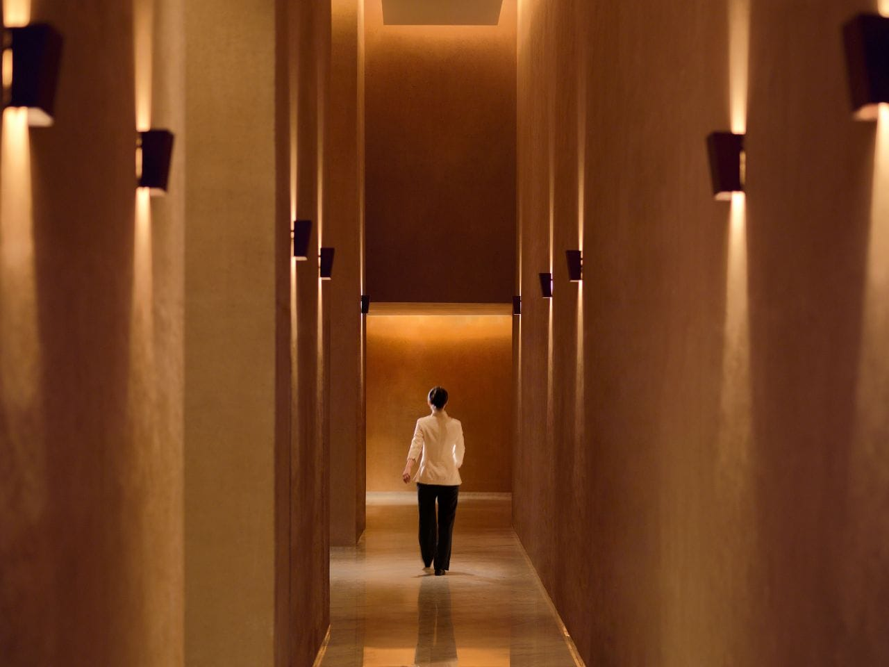 The Spa hallway