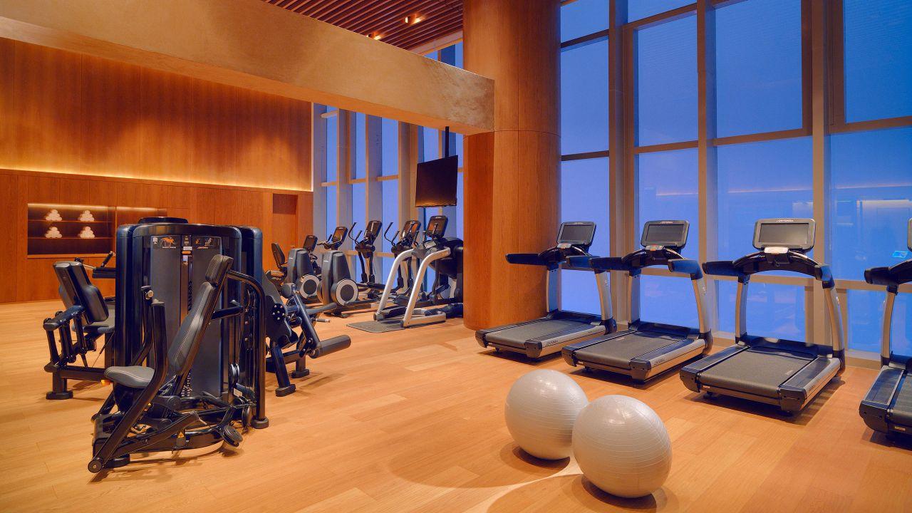 Fitness center equipment