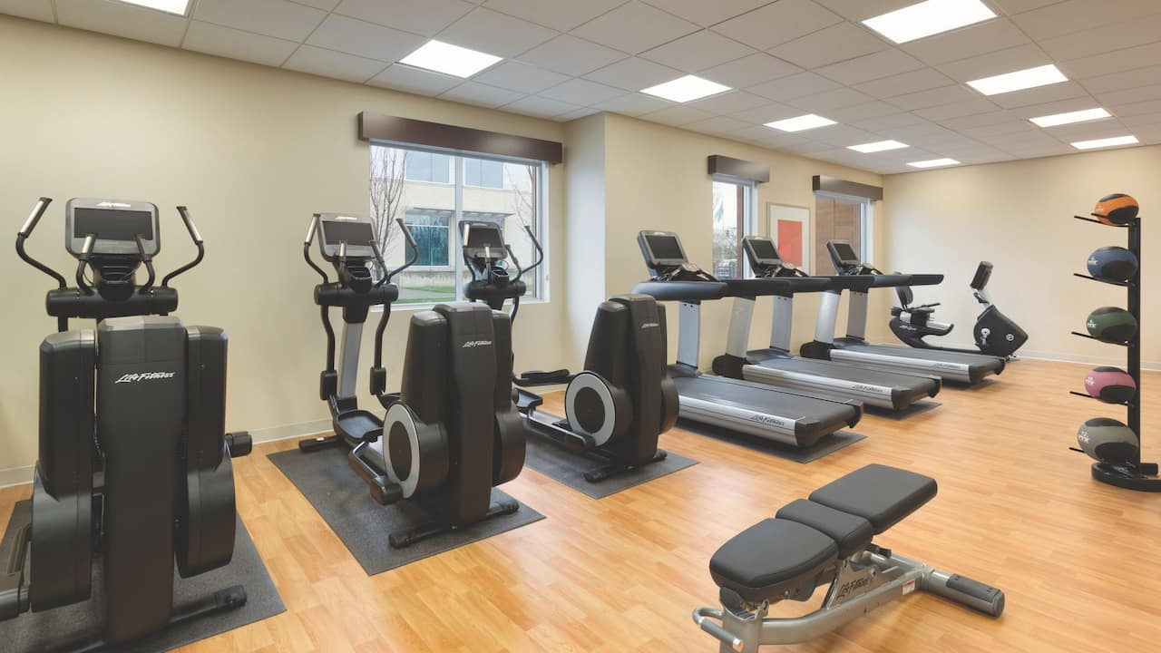 Keep up with your fitness routine in our Stay Fit Gym.