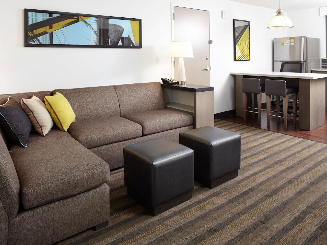 Hyatt House Denver / Lakewood at Belmar Living Room Suite