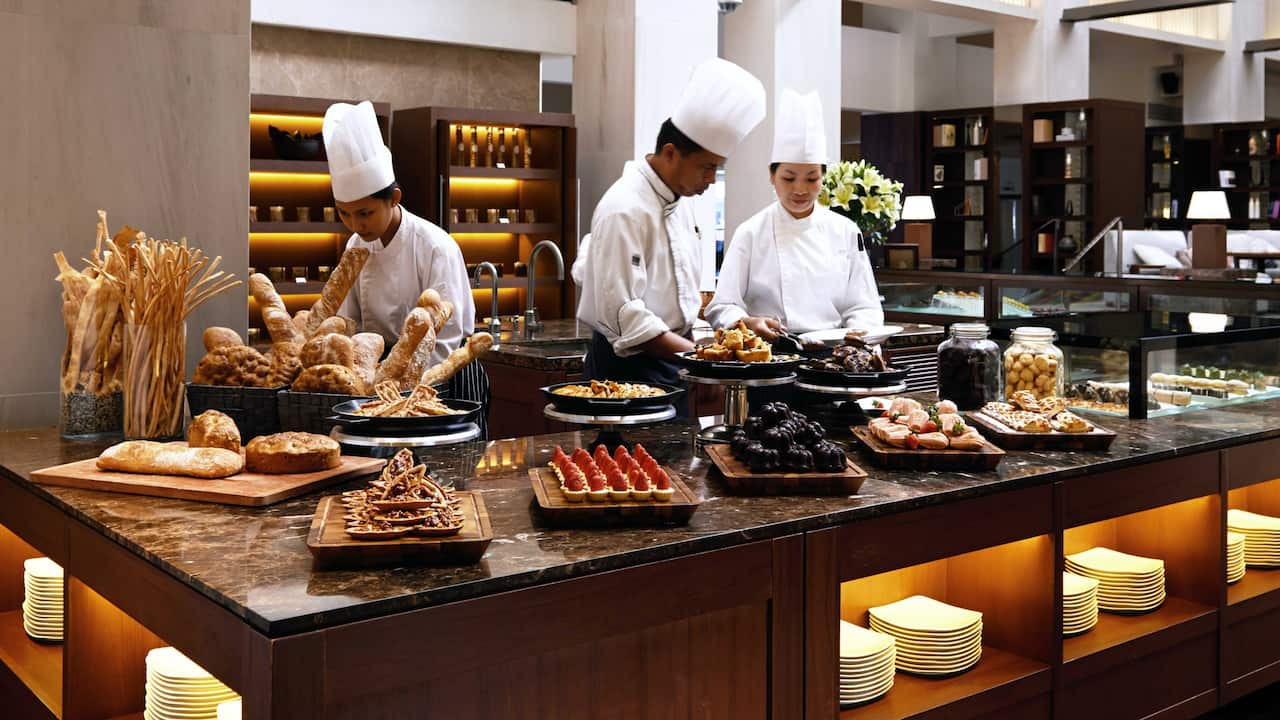 Tanjung Ria Kitchen Dessert Counter at Hyatt Regency Kinabalu Hotel