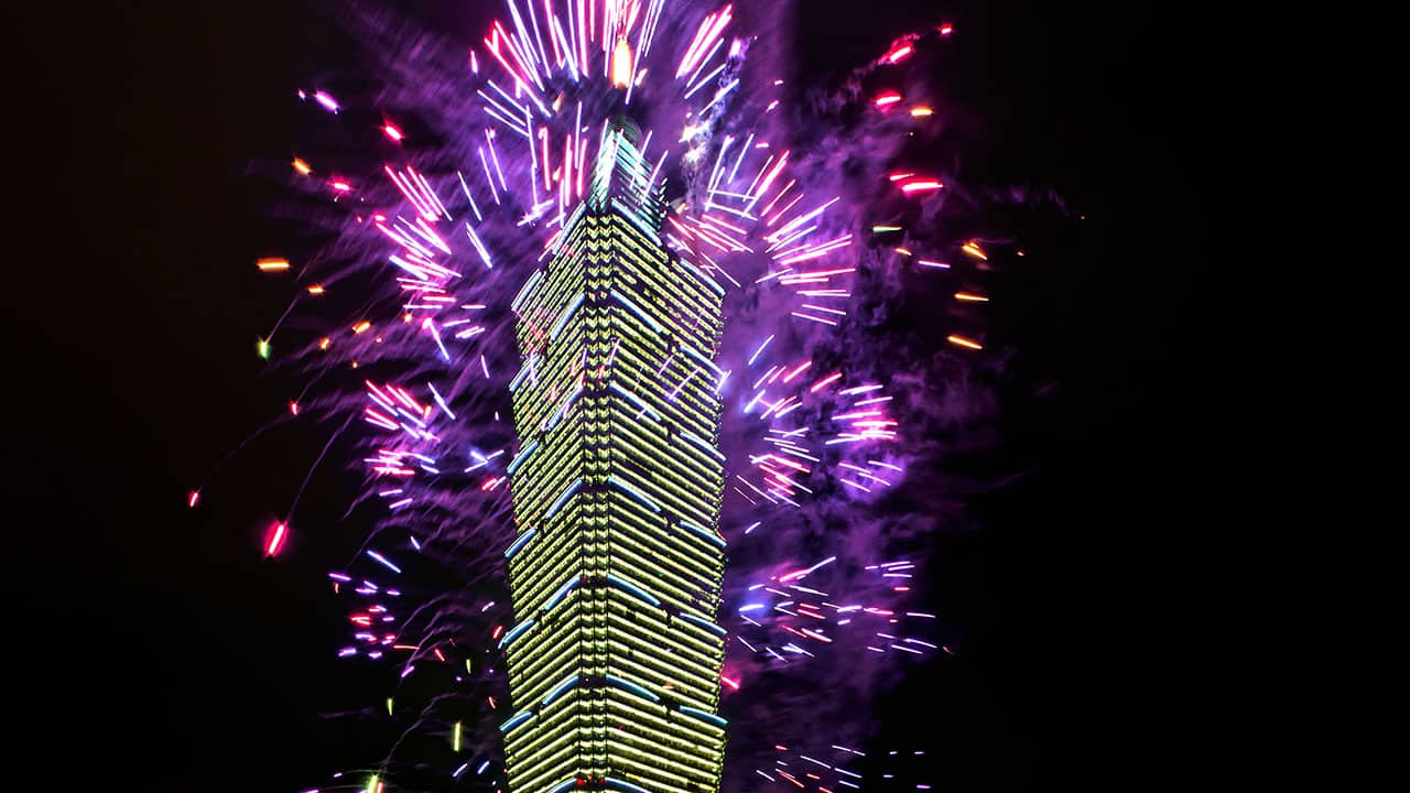 Taipei 101 New Year Eve Fireworks