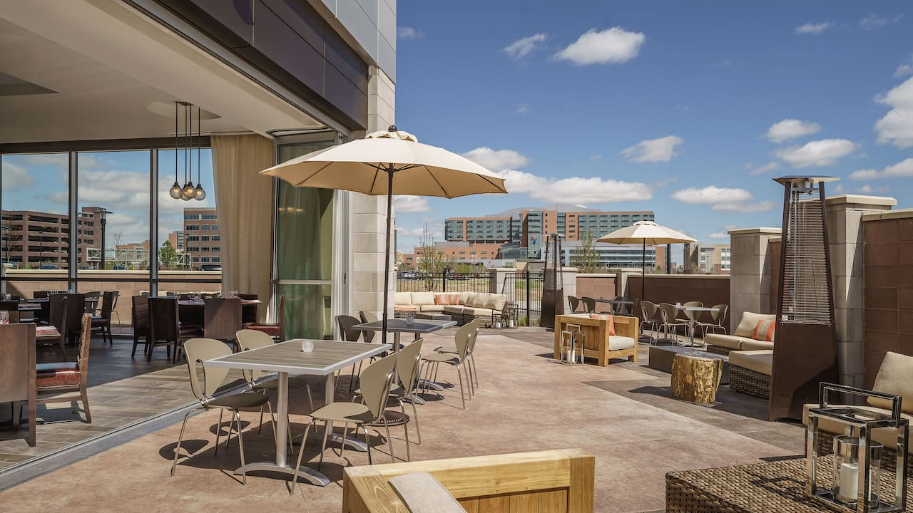 Denver Outdoor Dining at Borealis Hyatt Regency Aurora-Denver