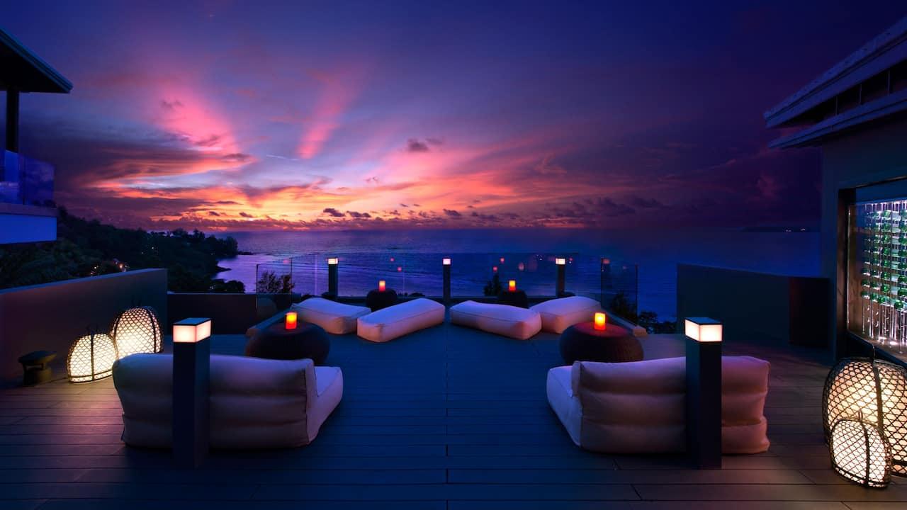 5-star Phuket Hotel in Kamala Beach Sunset Grill Terrace