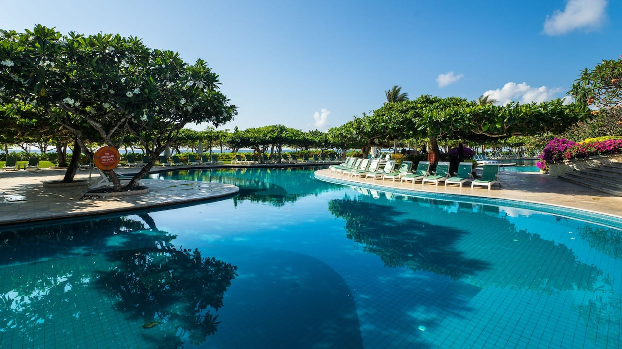 Spacious lagoon style Main Pool at Grand Hyatt Bali