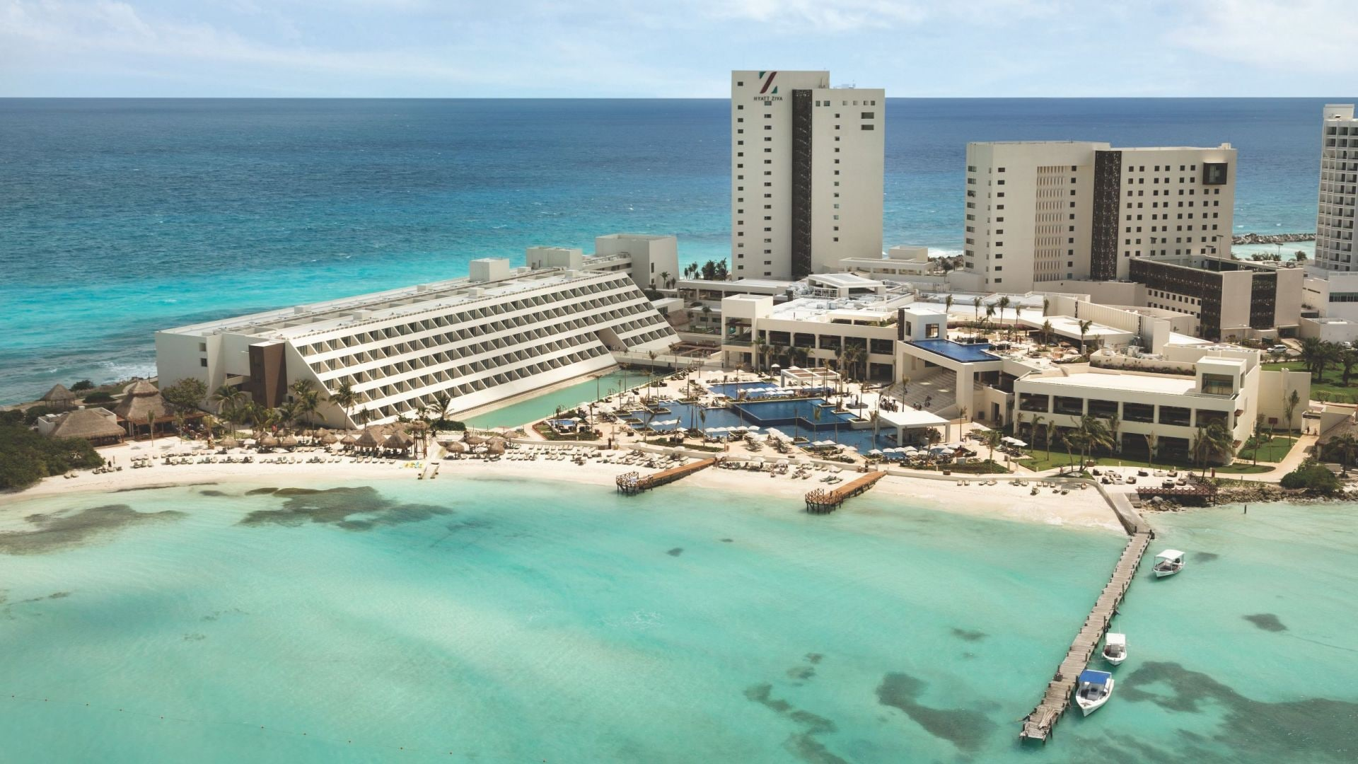 Hyatt Ziva Cancun Ariel View