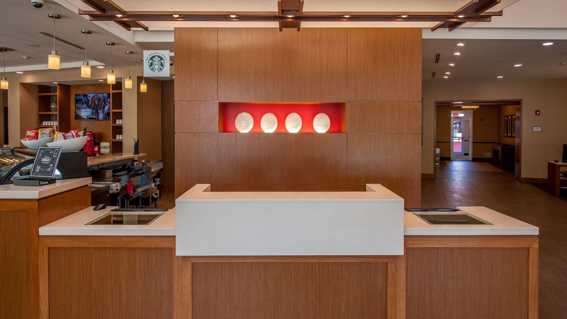 front desk lobby