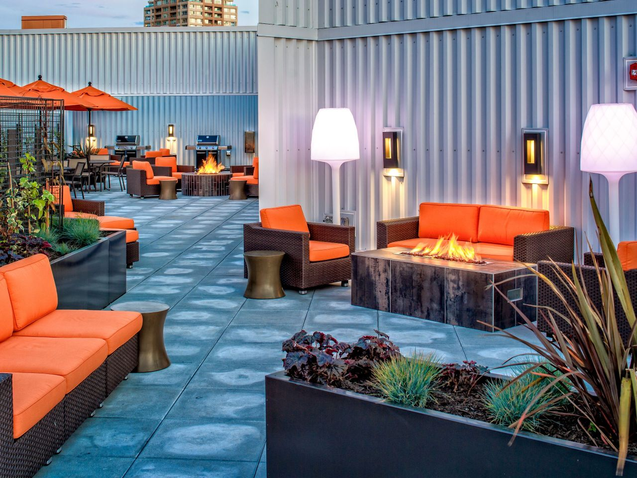 Rooftop Patio seating