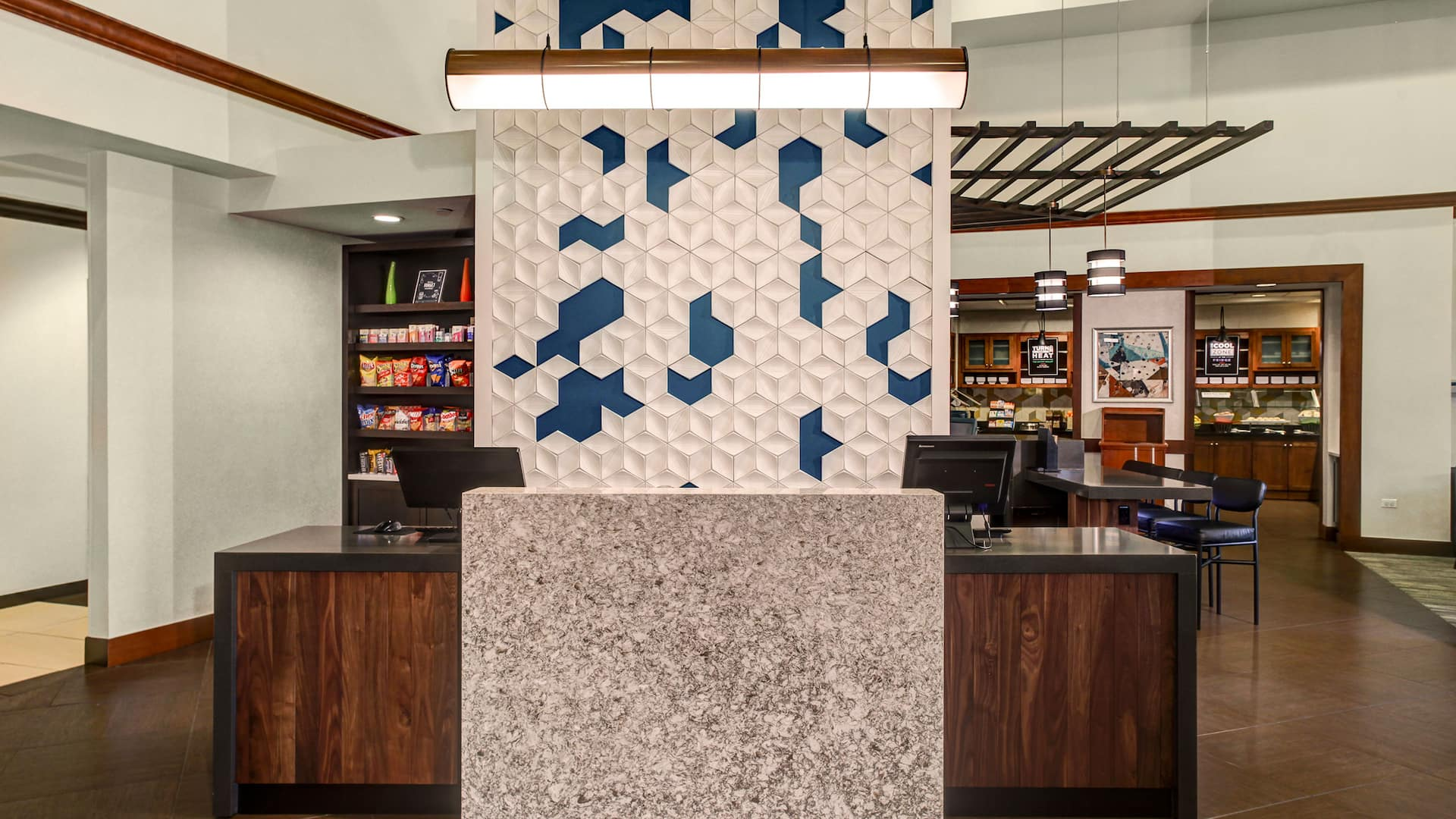 Hyatt Place Pittsburgh Airport lobby reception desk
