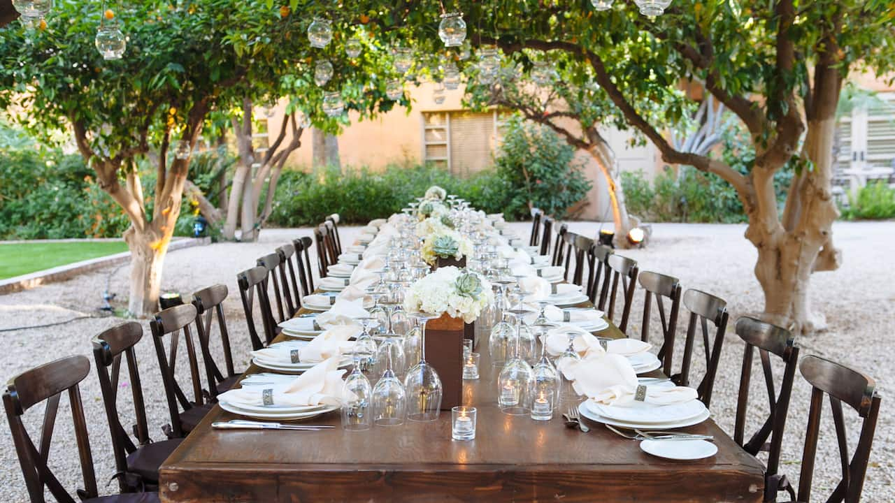 Orange Grove Outdoor Dining