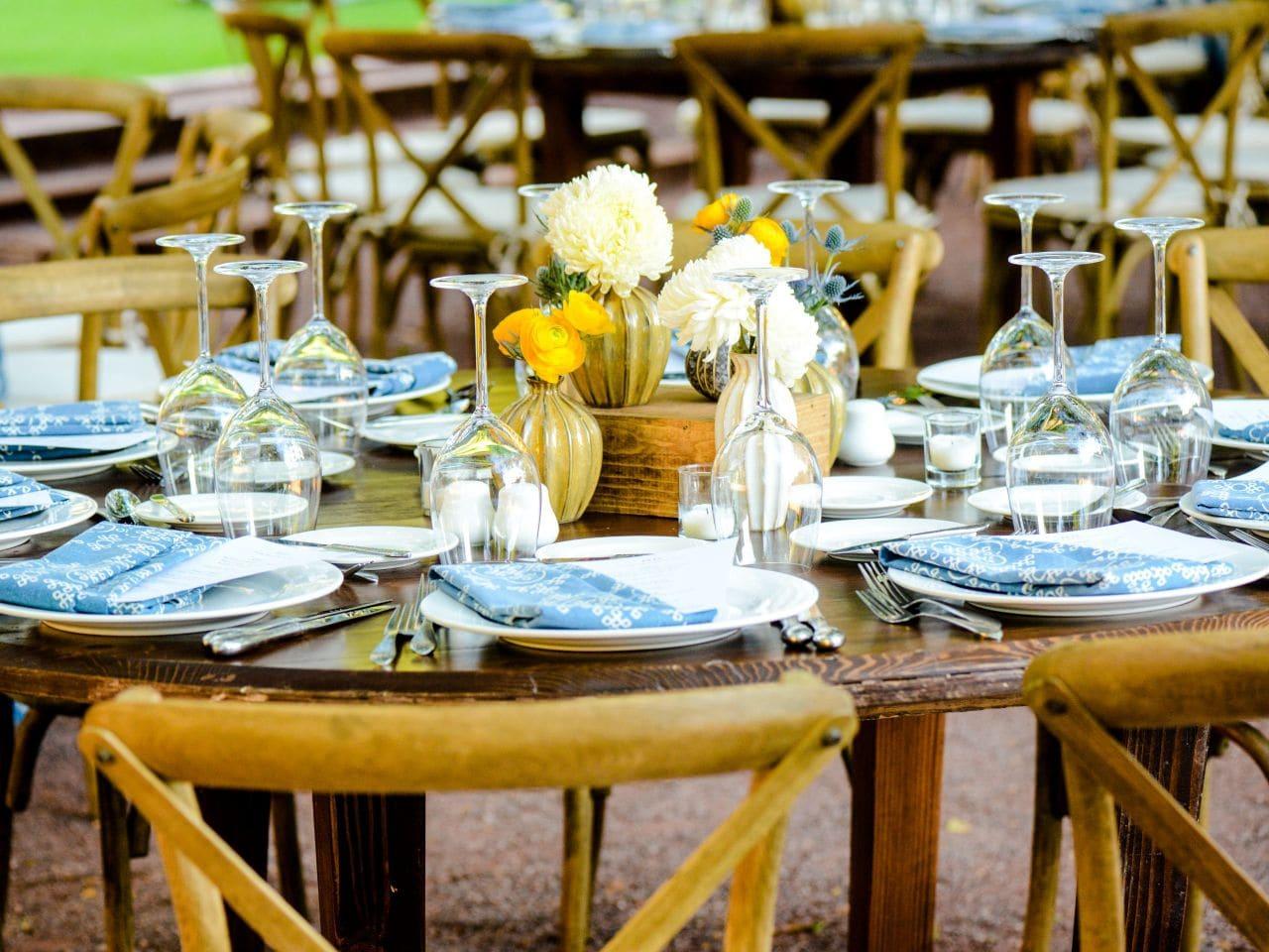 Orange Grove Table Setup