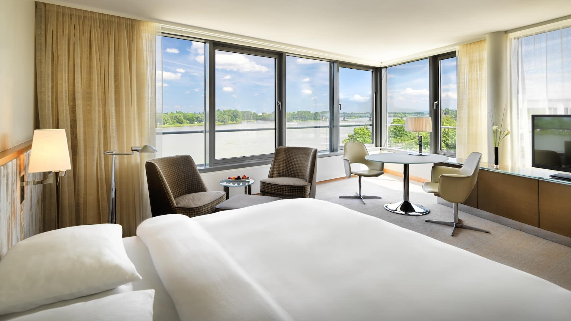 Rhine River view at Hyatt Regency Mainz