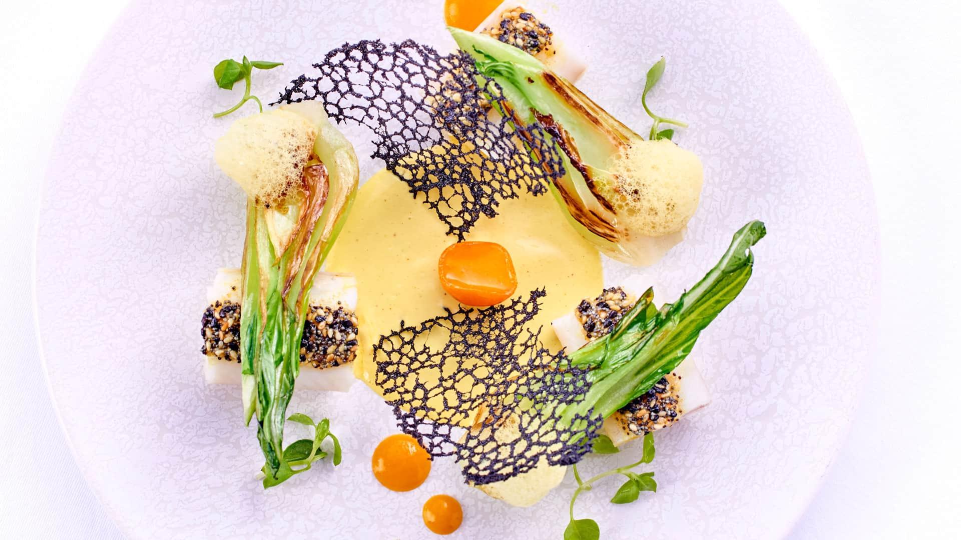Sole by Chef Jean-Francois Rouquette at Pur' gastronomic Restaurant - Hotel Park Hyatt Paris-Vendôme
