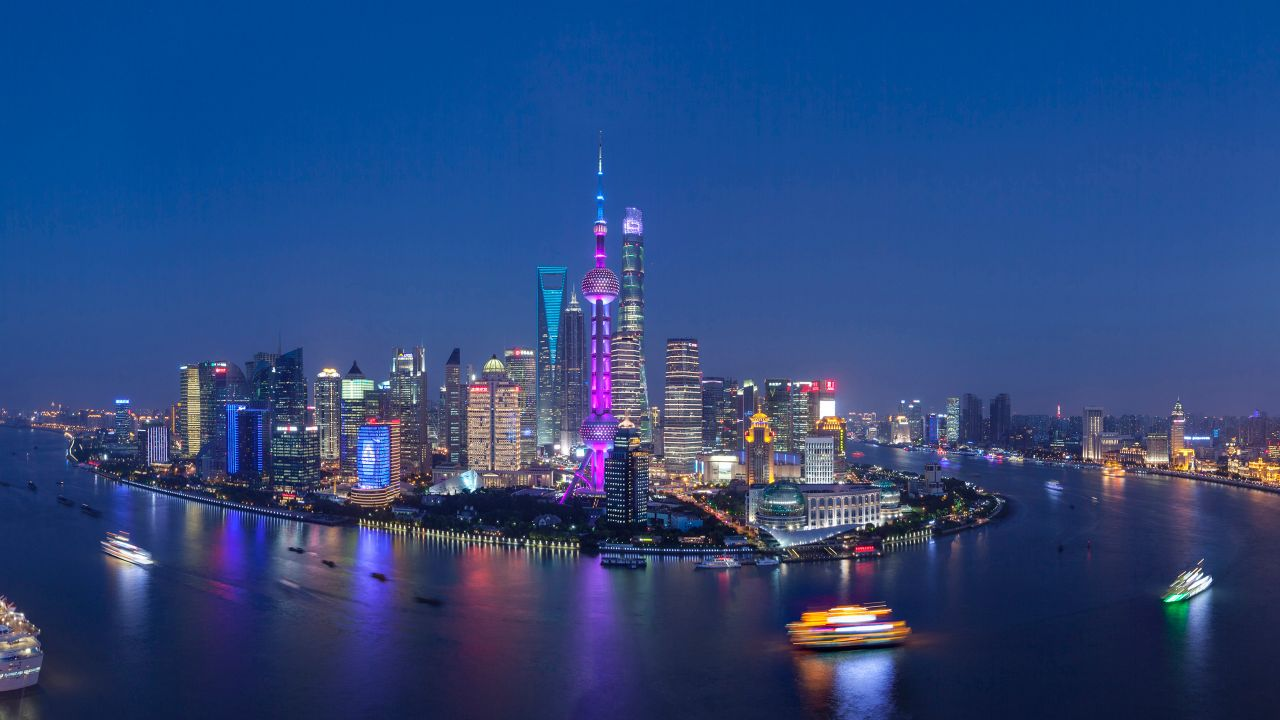Shangai night time view
