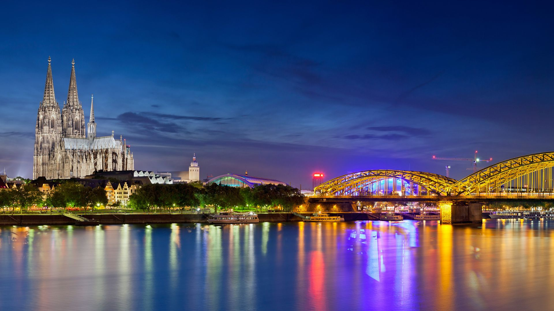 Cologne Skyline at Night