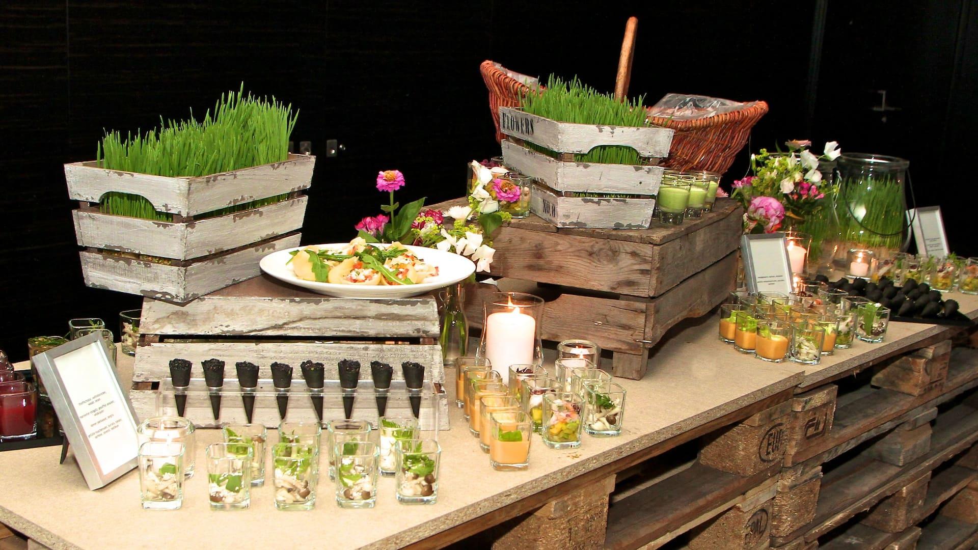 Innovative finger food at Hyatt Regency Dusseldorf
