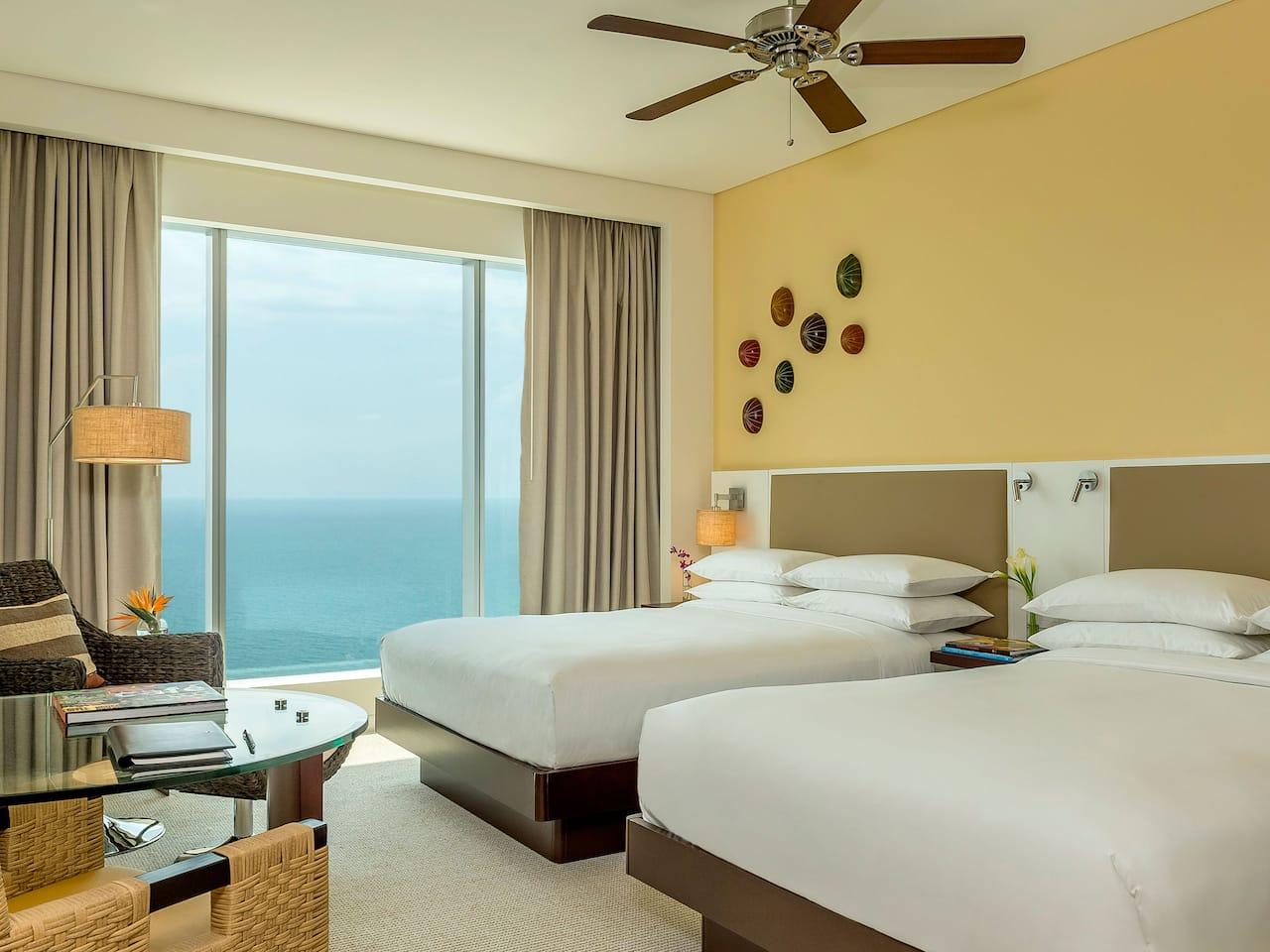 double room ocean front day in cartagena luxury hotel