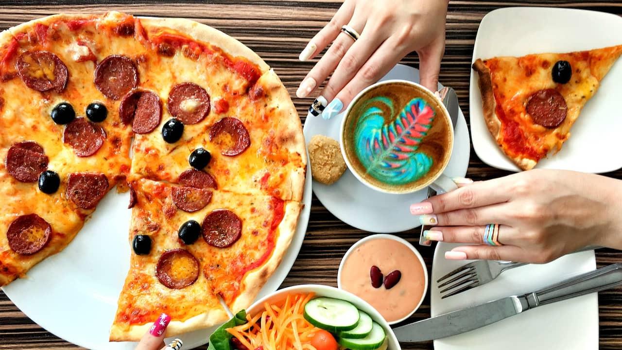 Mosaic Cafe (Rainbow Latte & Pizza Menu), Hyatt Regency Kinabalu, Sabah