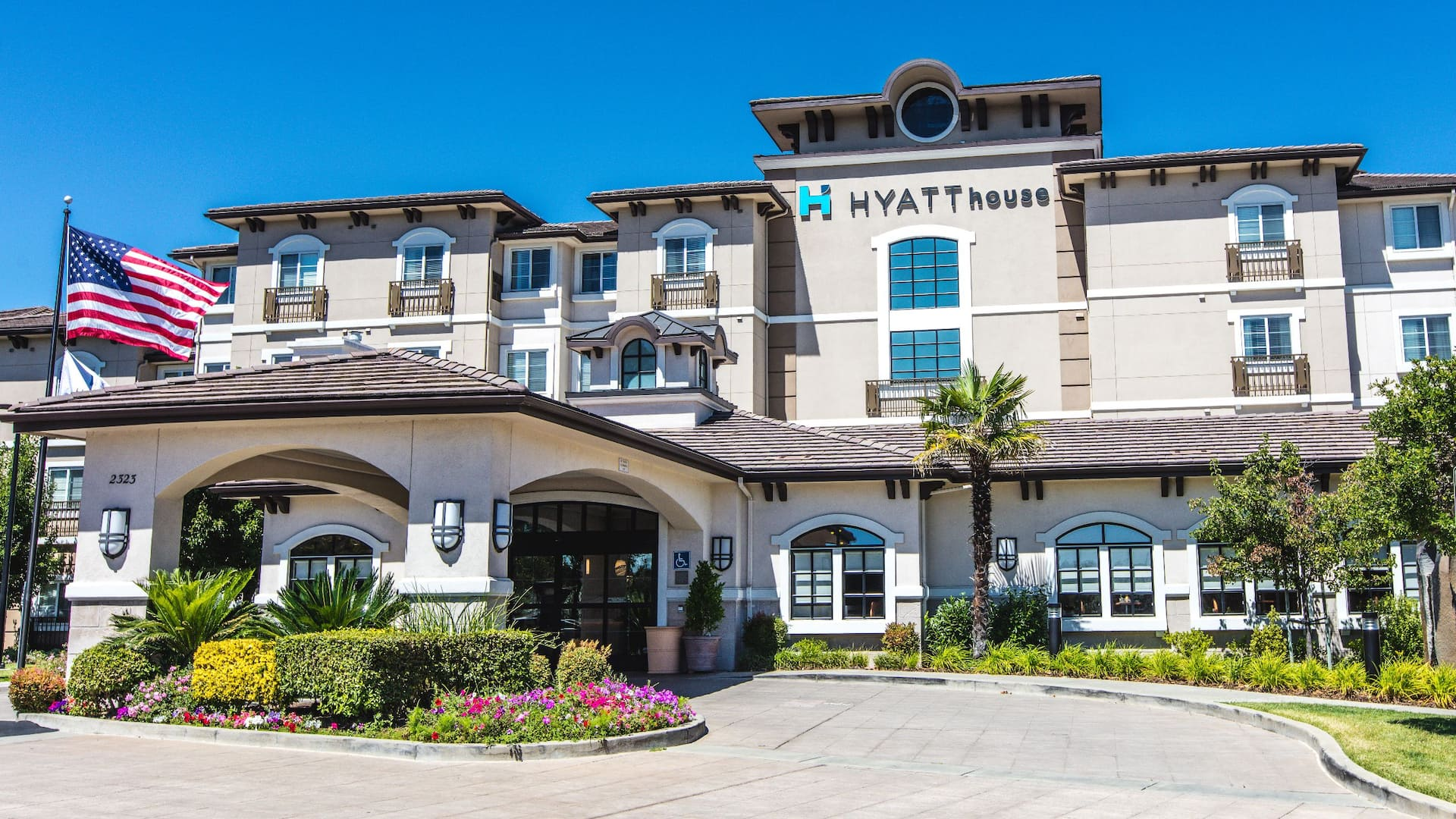 Hyatt House Exterior Flag