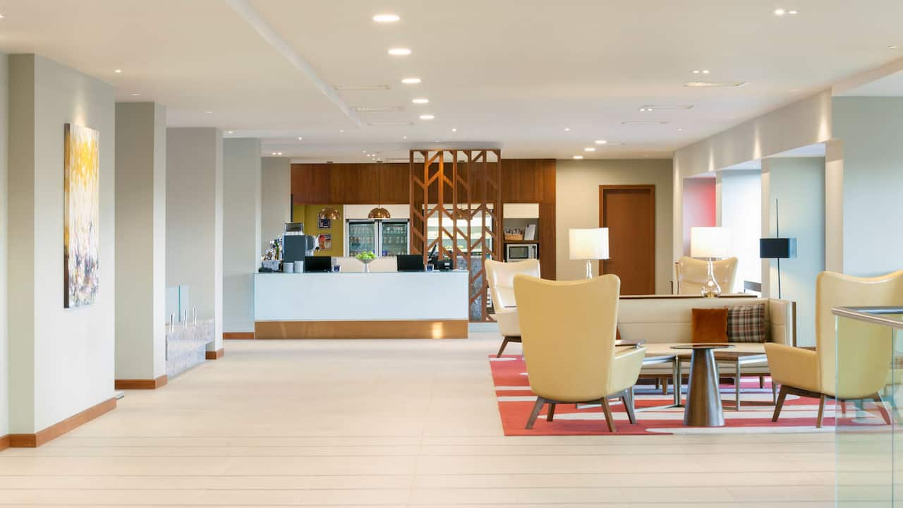 Hotel lobby at Hyatt Place West London Hayes