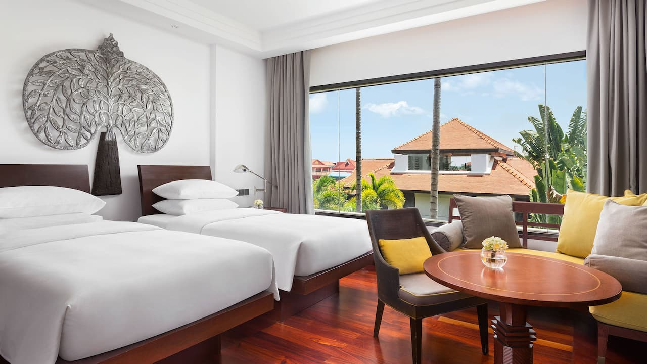 Luxury 5-star hotel in Siem Reap 2 Twin Beds with Garden View
