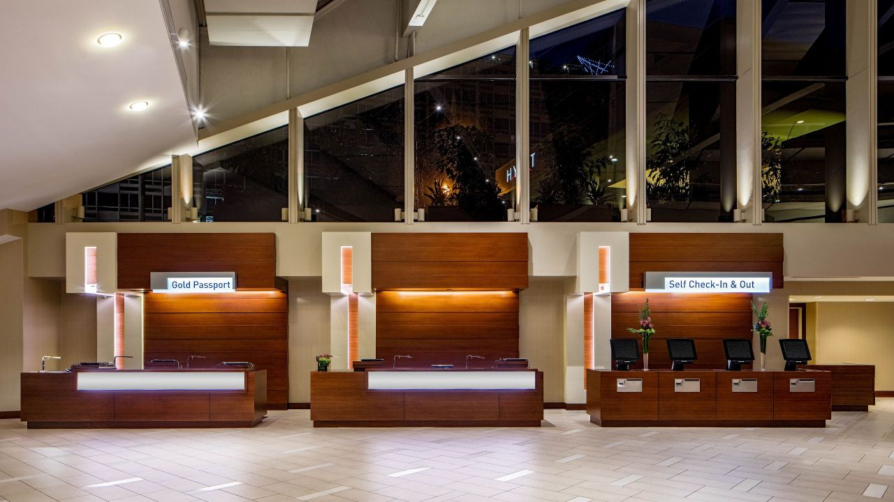 Front desk in the lobby