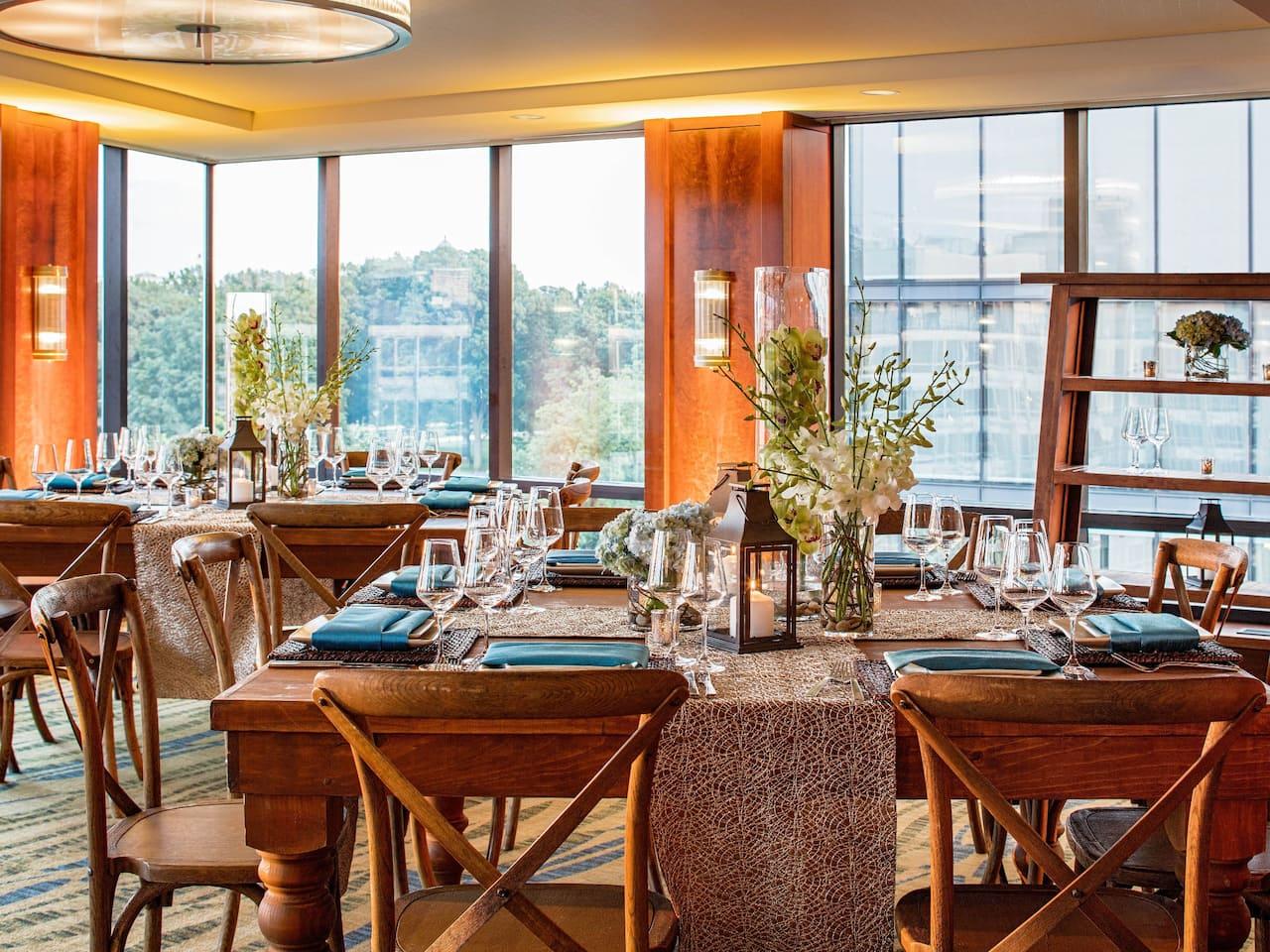 Elegant Reception Dining Hyatt Regency Washington on Capitol Hill