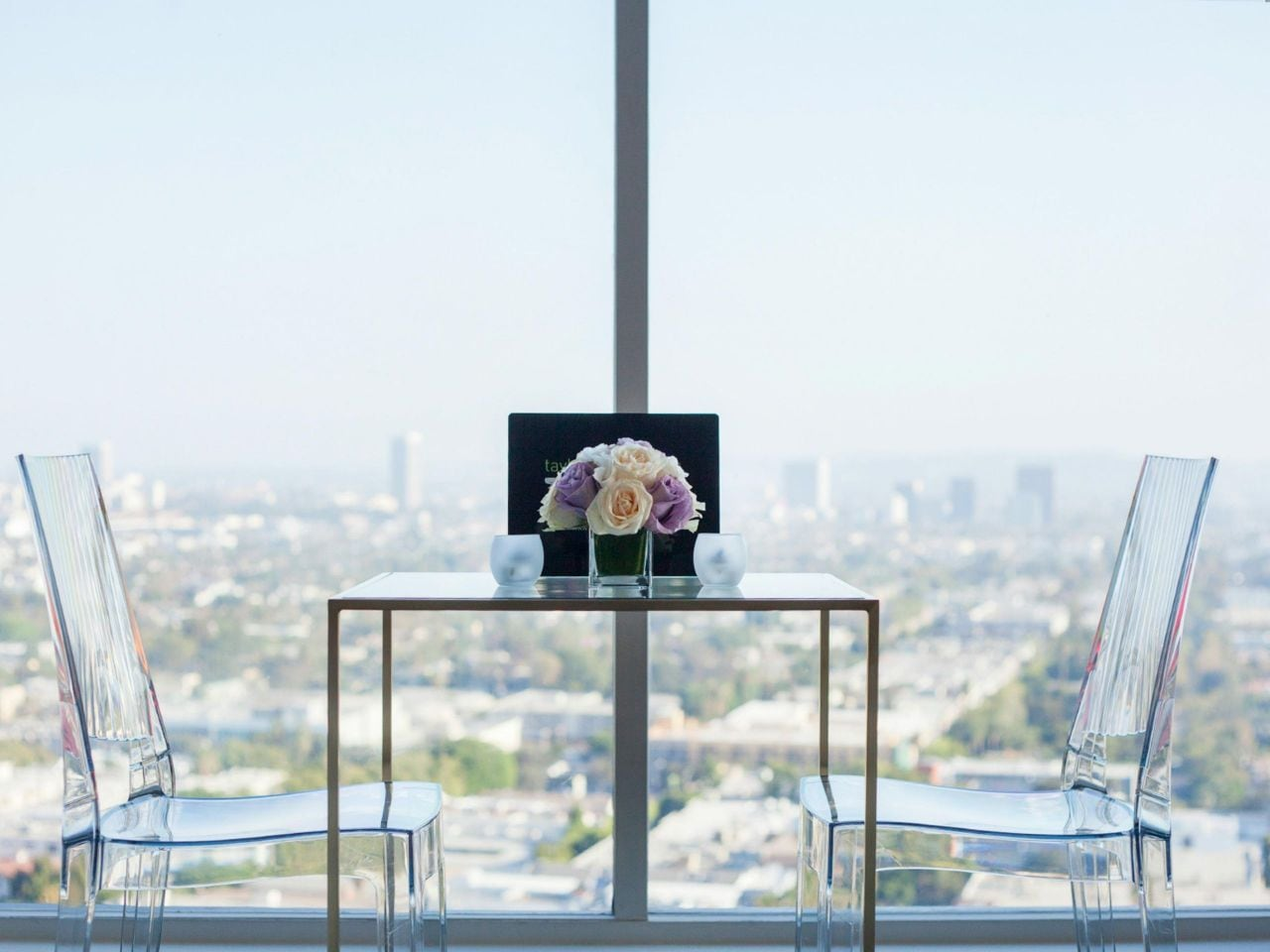 Wedding Table with View of Los Angeles at Andaz West Hollywood