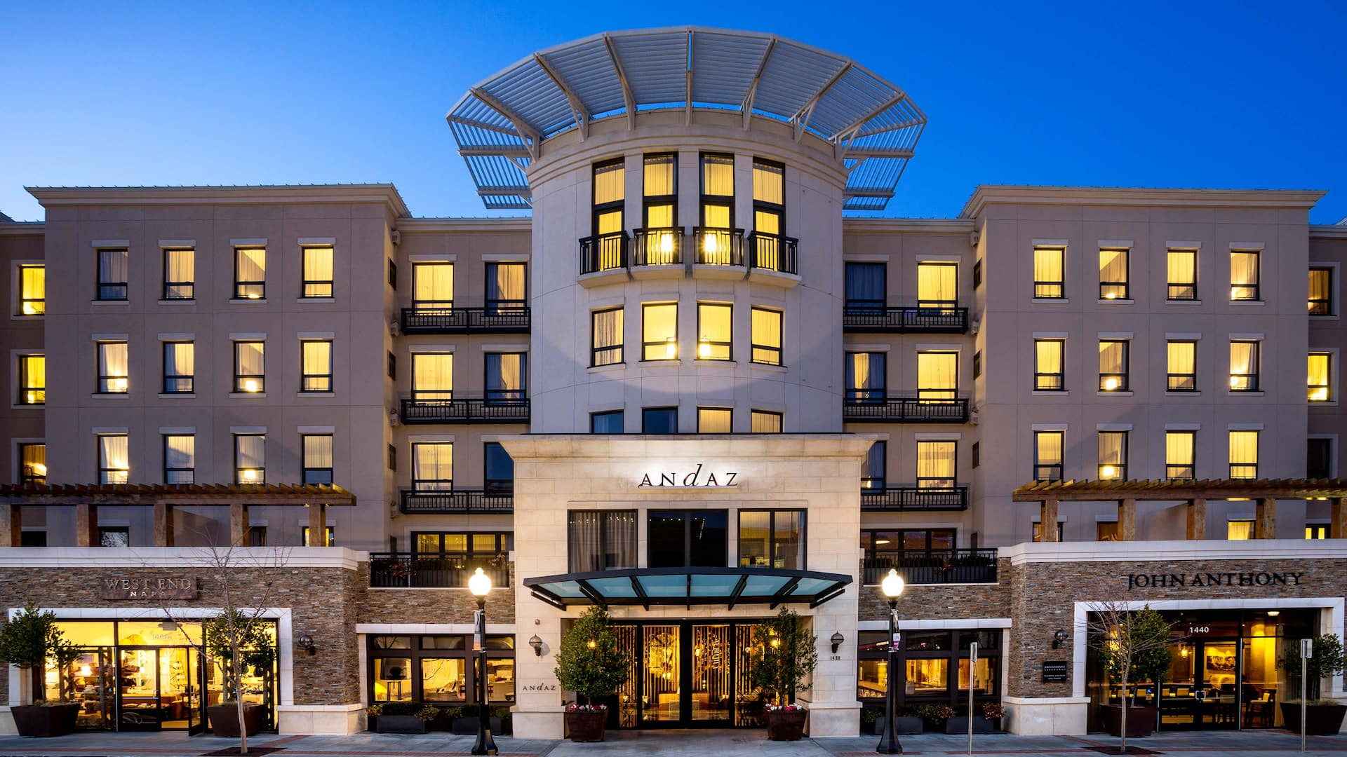 Napa Valley Hotels >> Boutique Hotel In Downtown Napa Near Wine Train Andaz Napa