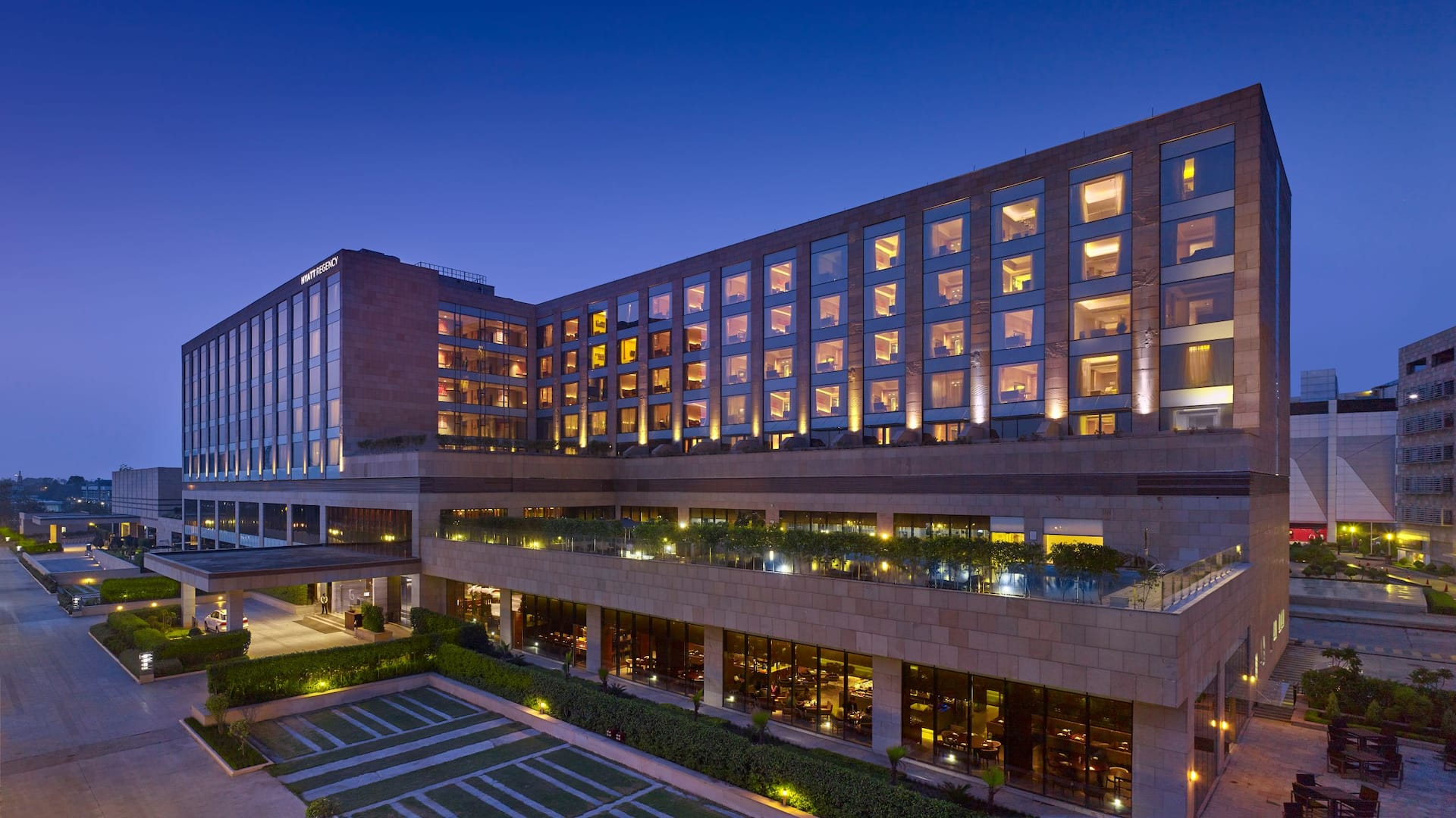 Facade of Hyatt Regency Chandigarh