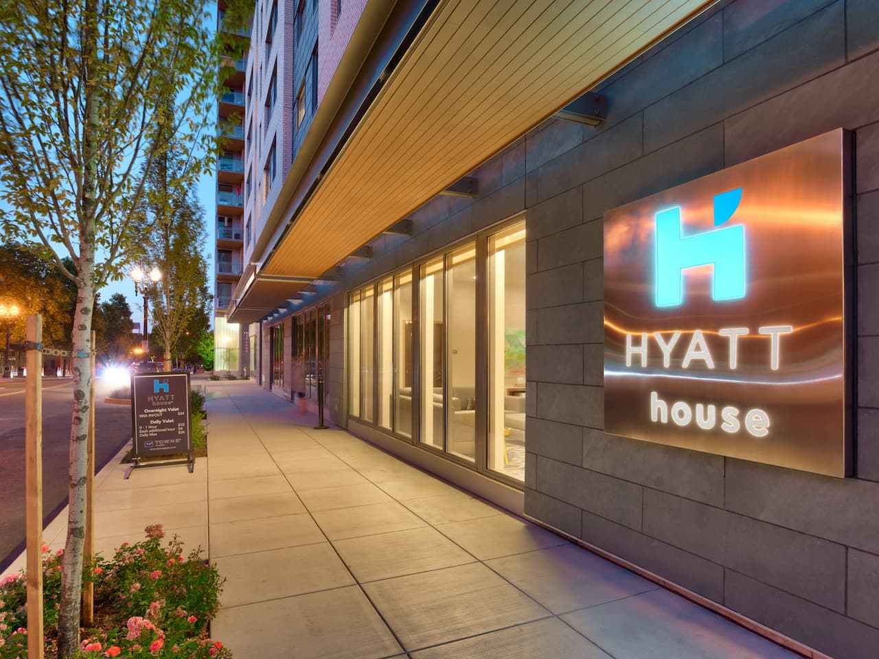 Hyatt House Exterior Night