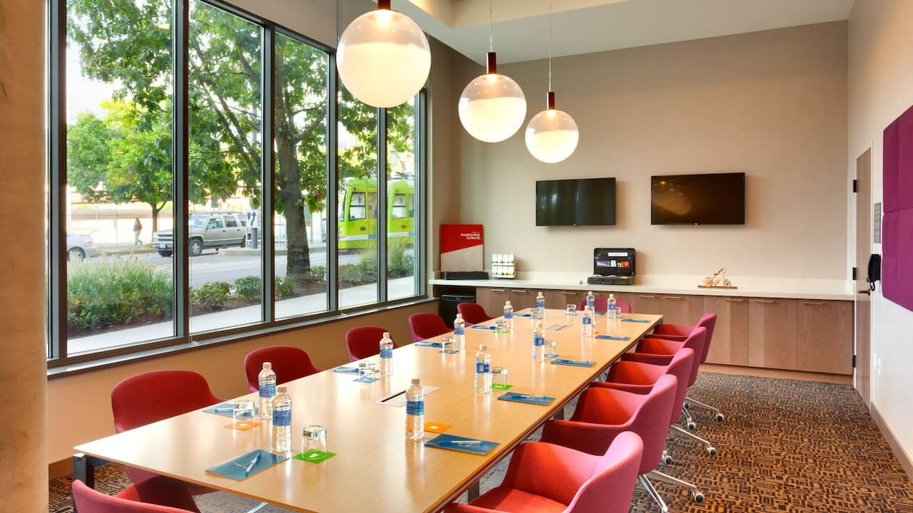Hyatt House Portland Downtown Gathering Board Room with Conference Table Downtown Portland