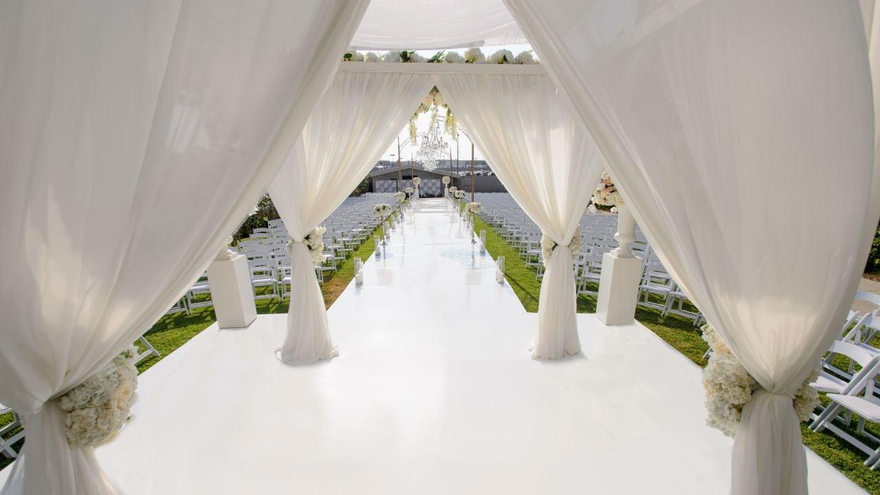 Wedding Ceremony Walkway