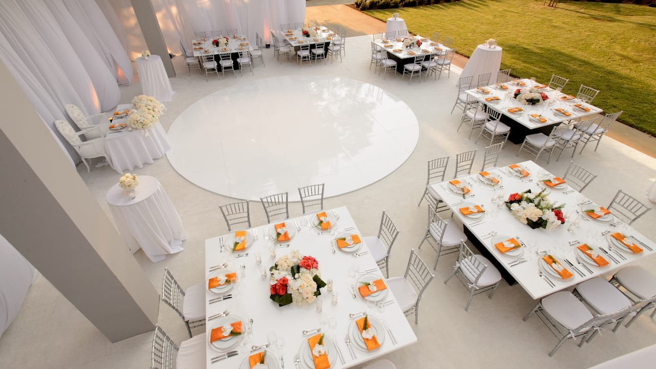 Wedding Courtyard Aerial