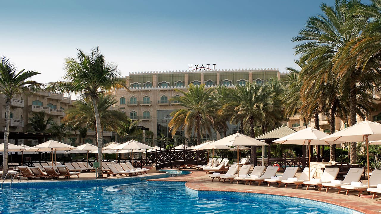 outdoor pool grand hyatt muscat hotel