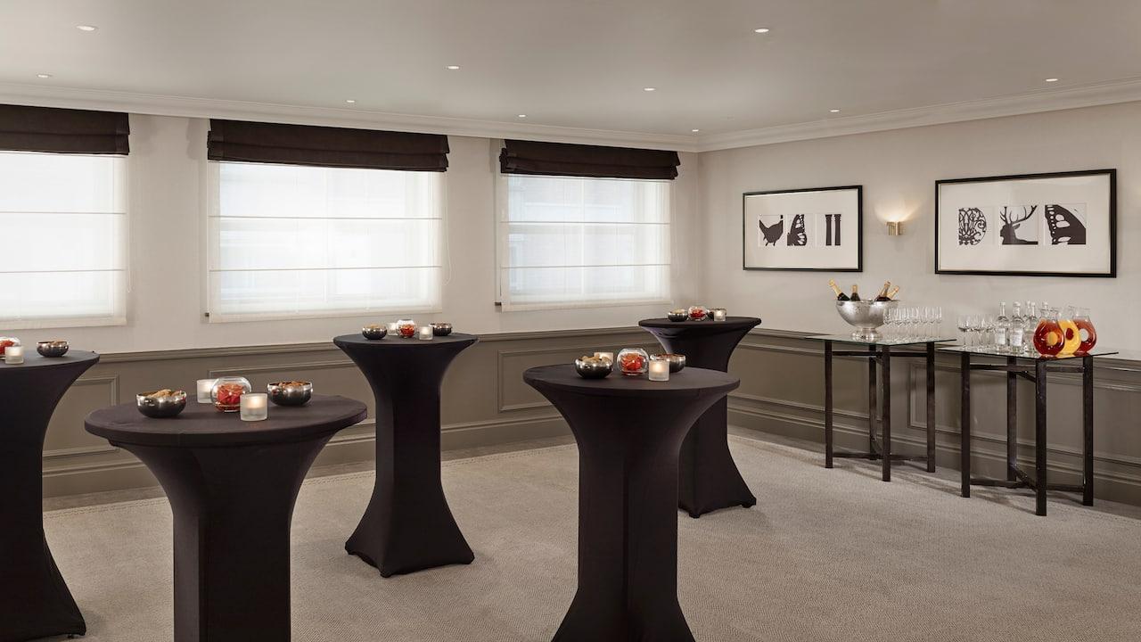 Blenheim meeting room set up at Hyatt Regency London The Churchill
