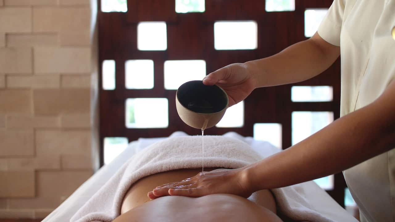 Essentials blend Spa Massage oil at Kriya Spa Bali