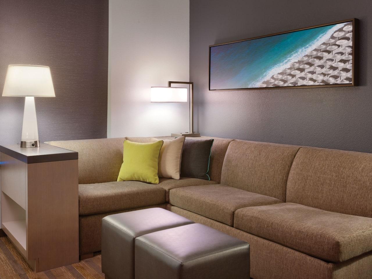 Hyatt House King Den Sitting Area
