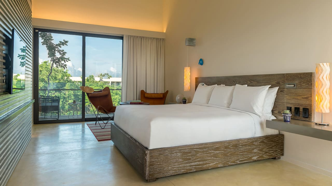 Andaz Mayakoba Resort Riviera Maya 1 king bed lagoon view