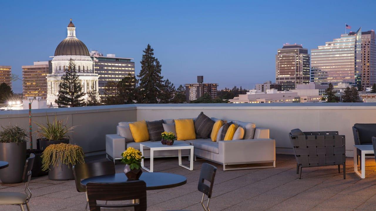 Rooftop Hyatt Regency Sacramento