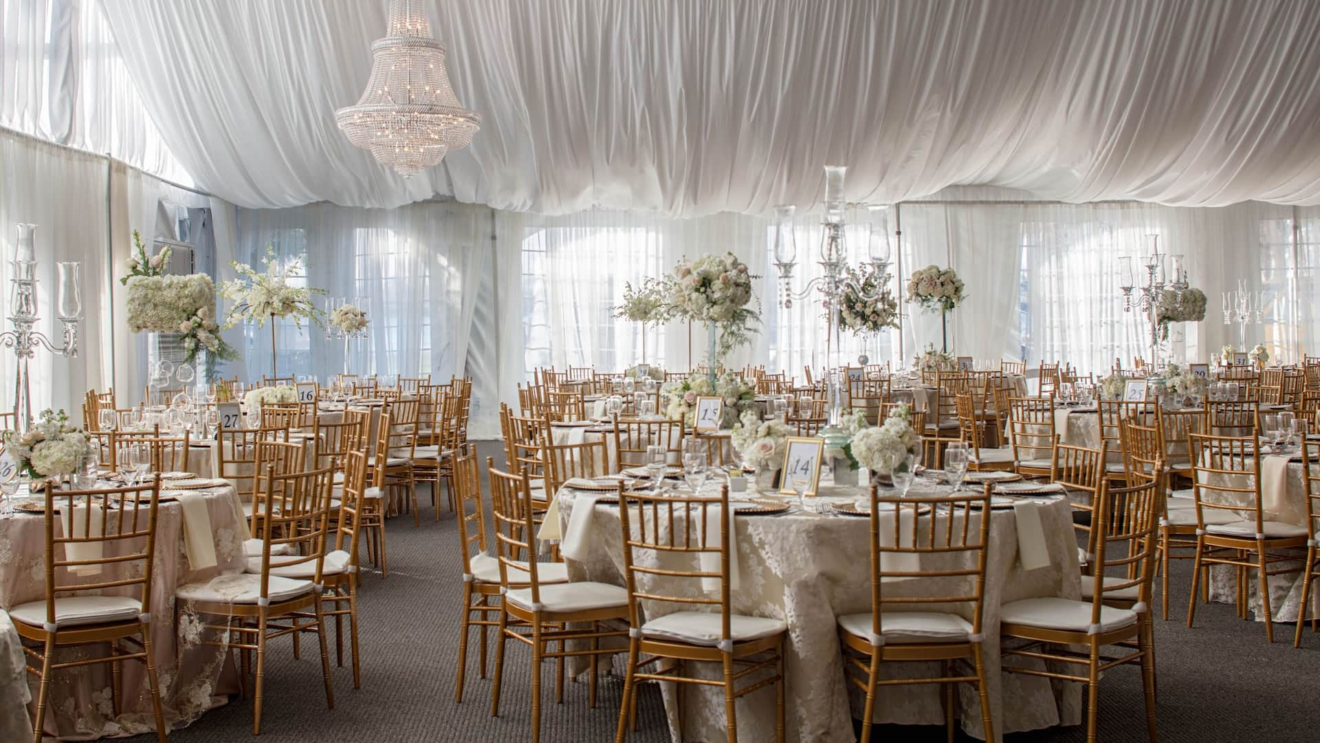 Pavilion Wedding Daylight Tables