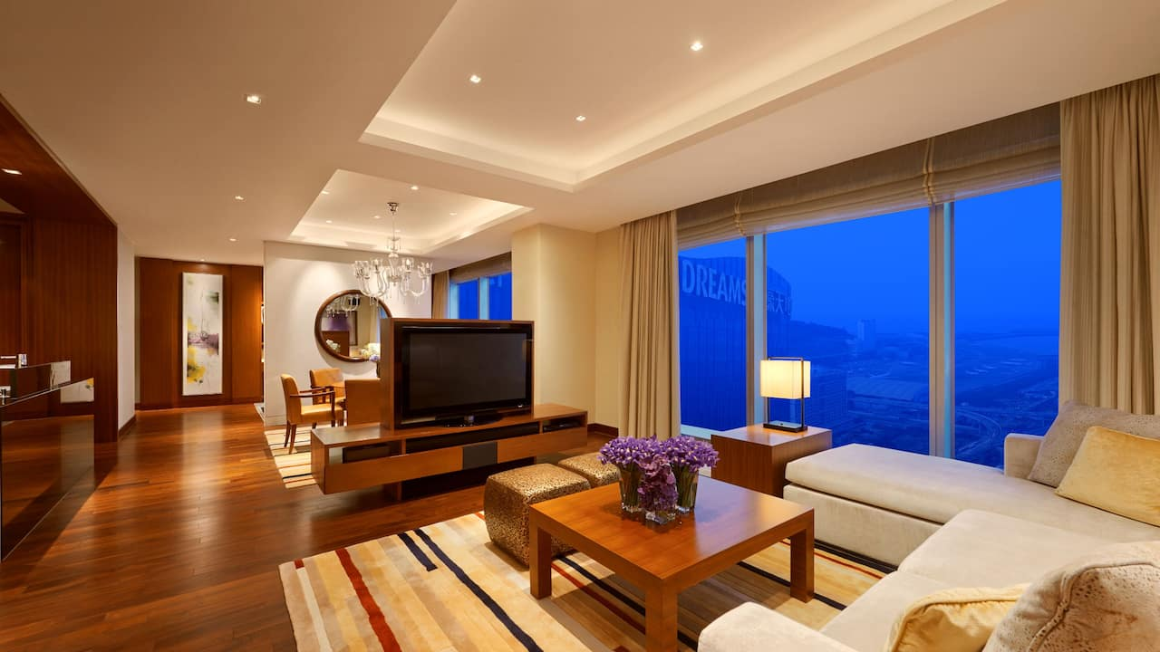 Grand Hyatt Macau Diplomat Suite Living Room